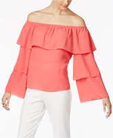 INC International Concepts Petite Tiered Off-The-Shoulder Top, Only at Macy's