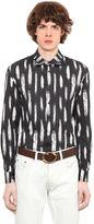 Roberto Cavalli Feather Printed Cotton Jersey Shirt