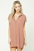 Forever 21 FOREVER 21+ Button-Front Shirt Dress