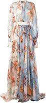 Fausto Puglisi floral print evening dress - women - Silk - 38