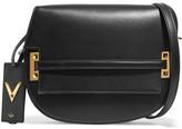 Valentino Satchel Leather Shoulder Bag - Black