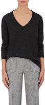 ATM Anthony Thomas Melillo Women's Cashmere V-Neck Sweater-Dark Grey