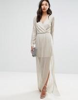 Club L Wrap Front Maxi Dress in Gold