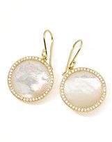 Ippolita Gold Rock Candy Lollipop Diamond Mother-of-Pearl Earrings
