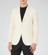 Reiss Reiss Danks - Peak Lapel Blazer In White