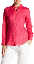 Foxcroft Long Sleeve Linen Pocket Shirt