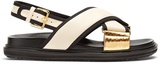 Marni Striped leather sandals