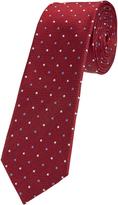 Oxford Tie Silk Spot Print Regular