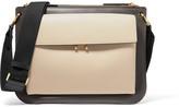 Marni Pocket Bandoleer Leather Shoulder Bag - Black