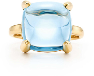 Tiffany & Co. Paloma's Sugar Stacks ring in 18k gold with a blue topaz