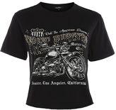 Topshop Free Rider Diamante Crop T-Shirt by Wild Affair