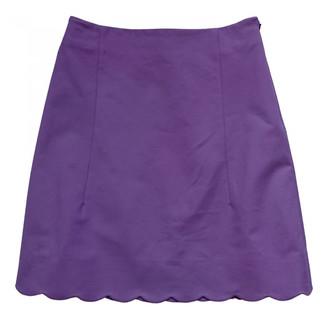 Christian Dior Purple Cotton - elasthane Skirts