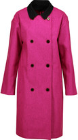 Opening Ceremony Trinity cotton-trimmed wool-blend coat
