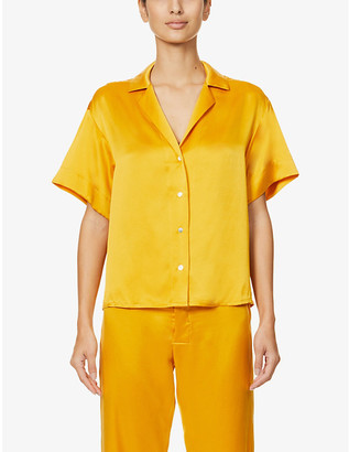 ASCENO The Prague silk pyjama top