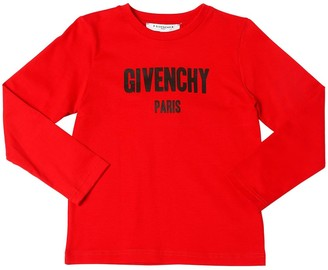 Givenchy Logo Print Jersey Long Sleeve T-shirt