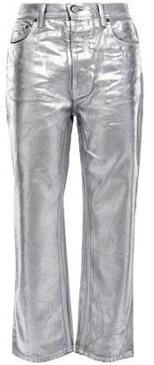 Acne Studios Coated Metallic High-rise Straight-leg Jeans