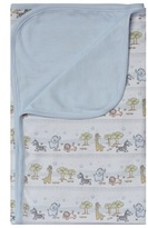 Kissy Kissy Light Blue Safari Print Pram Blanket