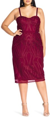 City Chic Antonia Strapless Sheath Dress