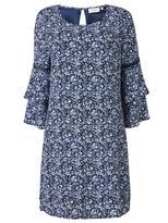 Jeanswest Sandra Tiered Sleeve Dress-Multi Deep Iris-8
