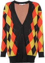Stella McCartney Argyle V-Neck Oversized Cardigan