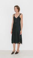 Helmut Lang Satin Lace Slip Dress