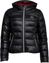 Converse Womens Core Padded Down Hooded Jacket Jet Black