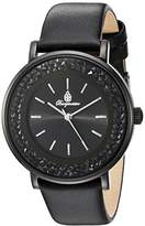 Burgmeister St. Lucia Women's Quartz Watch with Black Dial Analogue Display and Black Leather Strap BM537-622