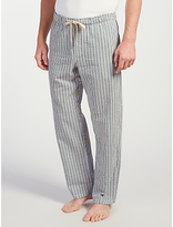 John Lewis Woodlands Stripe Lounge Pants, Blue/white