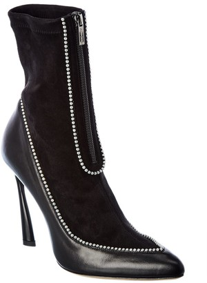 Jimmy Choo Brax 100 Leather & Suede Boot