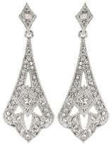 Social Gallery by Roman Crystal Drop Earrings - Clear