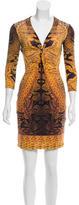 Roberto Cavalli Printed Cocktail Dress