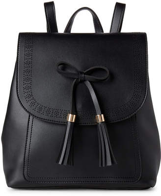 Imoshion Tasseled Bow Front Flap Backpack