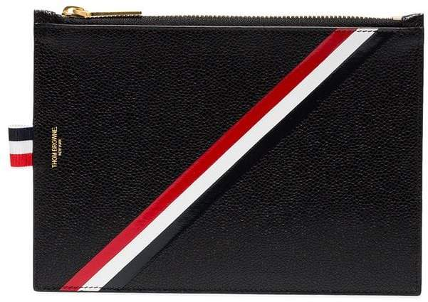 Thom Browne Leather Zippered Document Holder