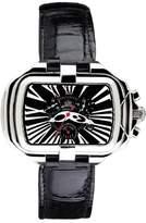 Prima Donna Gio Monaco Women's 280-A PrimaDonna Rectangular Black Alligator Leather Chronograph Watch