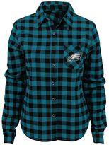 Juniors' Philadelphia Eagles Buffalo Plaid Flannel Shirt