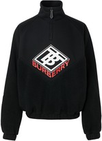 Burberry Logo Graphic Neoprene Funnel Neck Track Top