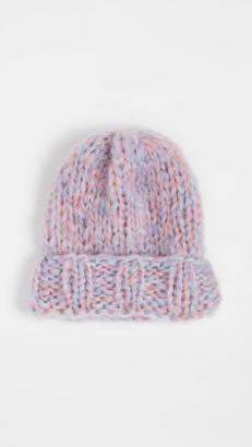 Rose Carmine Knit Hat