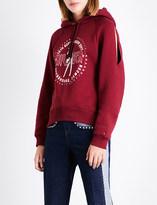 Tommy Hilfiger x Gigi Hadid logo-print cotton-blend hoody