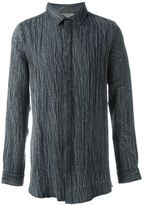 Tony Cohen snakeskin effect shirt - men - Cotton - 46