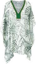BRIGITTE v neck printed kaftan - women - Polyester - P