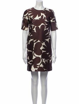 Marni Printed Mini Dress Brown