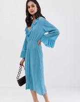Asos Design DESIGN midi plisse tea dress