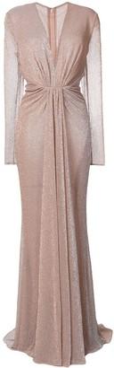 Talbot Runhof Long Metallic Gown