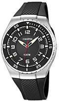 Calypso Men's Quartz Watch with Black Dial Analogue Display and Black Plastic Strap K6063/4