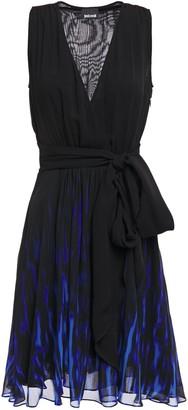 Just Cavalli Wrap-effect Printed Chiffon Dress