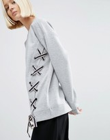 Asos Lace up Detail Sweater