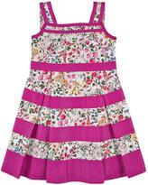 Oscar de la Renta Gestreiftes Kleid aus Baumwolle