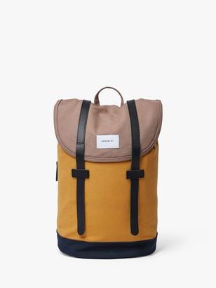 SANDQVIST Stig Organic Cotton Backpack, Earth Yellow