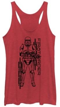 Fifth Sun Star Wars Women's Rise of Skywalker Red Trooper First Order Racerback Tank Top