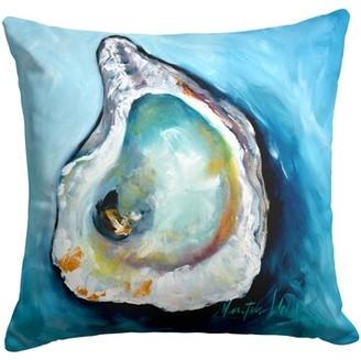 M·A·C Highland Dunes Velarde Oyster J Mac Indoor/Outdoor Throw Pillow Highland Dunes